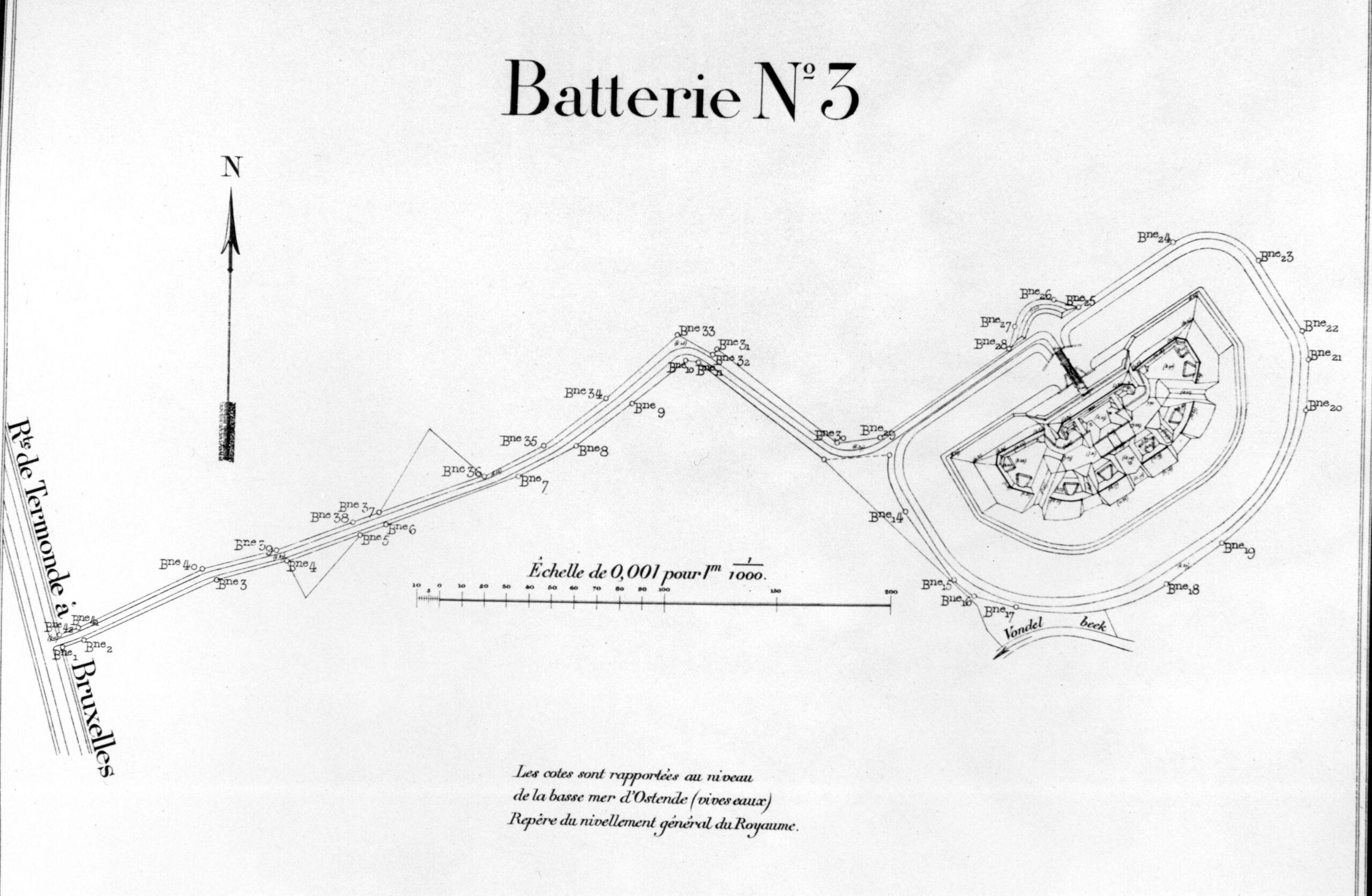 Situering van Fort Rozenbroek.